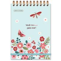 Caderno de ideias Borboletas verde
