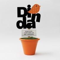 Mini Vaso Dinda pássaro