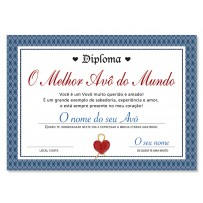 Cartão Diploma Melhor Avô