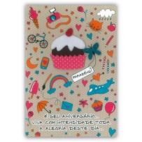 Cartão Artesanal Vida boa