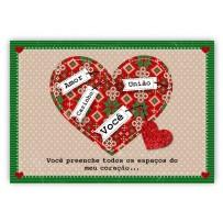 Cartão Mix Natal Coração natalino