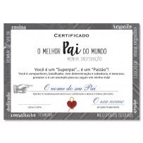 Cartão Certificado Melhor Pai Inspiração