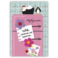Cartão Artesanal Mãe Geladeira