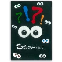 Cartão Artesanal Olhos no escuro