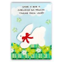 Cartão Artesanal Páscoa Coelhinho