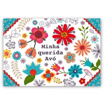 Cartão Mix Avó Floral