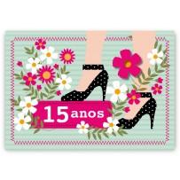 Cartão Mix 15 anos Sapatos
