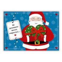 Cartão Mix Natal Papai Noel coração