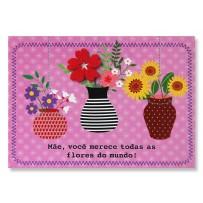 Cartão Mix Mãe Três Vasos