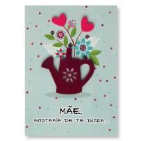 Cartão Artesanal Mãe Regador