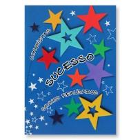 Cartão Artesanal Estrelas coloridas sucesso