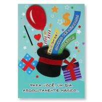 Cartão Artesanal Cartola do mágico