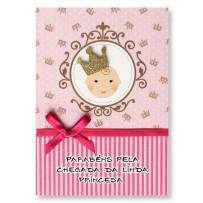 Cartão Artesanal Nascimento princesa