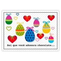 Cartão Mix Páscoa Adora chocolate