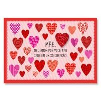 Cartão Mix Mãe Muitos corações