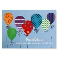 Cartão Mix Balões texturas