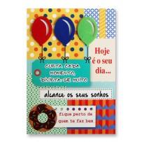 Cartão Artesanal Tags balões