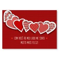 Cartão Mix Corações variados