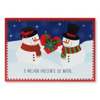 Cartão Mix Natal Casal boneco de neve