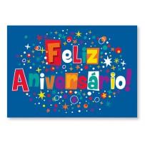 Cartão Mix Aniversário azul