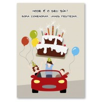 Cartão Artesanal Festa Amigos