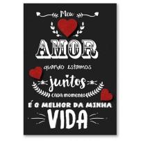 Cartão Artesanal Lettering Amor
