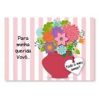 Cartão Mix Avó Vaso flores