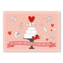 Cartão Mix Casamento Bolo festa