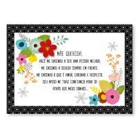 Cartão Mix Mãe Floral grafismo