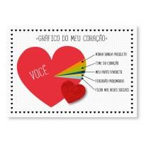 Cartão Mix Romântico Gráfico coração