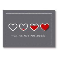 Cartão Mix Romântico Coração cheio