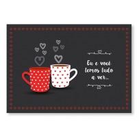 Cartão Mix Romântico Xícaras do amor