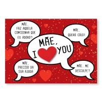 Cartão Mix Mãe Balões frases