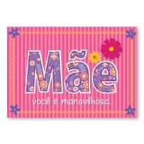 Cartão Mix Mãe Palavra floral