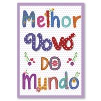 Cartão Artesanal  Avó Letras coloridas