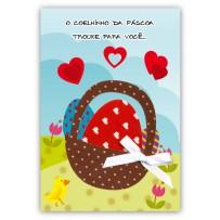 Cartão Artesanal Páscoa Casal coelhos