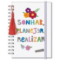 Planner Permanente M Frases coloridas