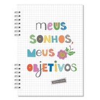 Planner Compacto mensal Frases coloridas