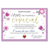 Cartão Certificado Melhor Avó especial