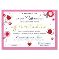 Cartão Certificado Melhor Mãe gratidão