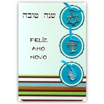 Cartão Artesanal Judaico 3 pingentes