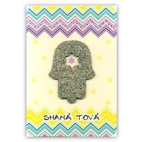 Cartão Artesanal Judaico Hamsa pequena