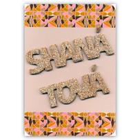 Cartão Artesanal Judaico Shaná Tová letras