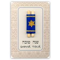 Cartão Artesanal Judaico Torá