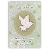 Cartão Artesanal Judaico Pomba